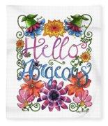 Hello Gorgeous Plus Fleece Blanket
