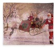 Hello Santa Fleece Blanket