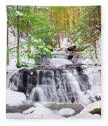 Hells Hollow Falls 1 Fleece Blanket