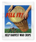 Help Harvest War Crops - Fill It Fleece Blanket