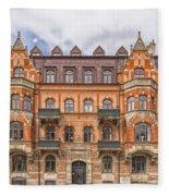 Helsingborg Building Facade Fleece Blanket