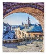 Helsingborg Through The Archway Fleece Blanket
