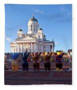 Helsinki Cathedral Fleece Blanket