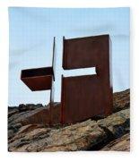 Helsinki Rock Church Cross Fleece Blanket