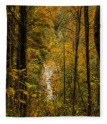 Helton Falls Through The Leaves Fleece Blanket