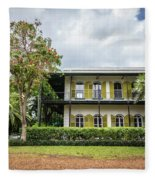 Hemingway House, Key West, Florida Fleece Blanket