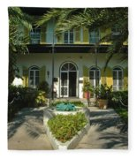 Hemingways House Key West Fleece Blanket