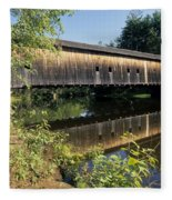 Hemlock Covered Bridge - Fryeburg Maine Usa. Fleece Blanket
