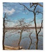 Hempstead Harbor Through The Trees Fleece Blanket