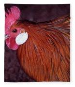 Hen Chicken, Digital Paint Fleece Blanket