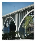 Henley Street Bridge II Fleece Blanket