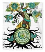 Henna Tree Of Life Fleece Blanket