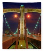 Hennepin Avenue Bridge Minneapolis Fleece Blanket