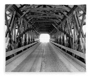Henniker Covered Bridge Fleece Blanket