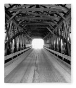 Henniker Covered Bridge Fleece Blanket