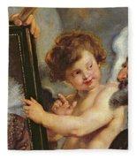 Henri Iv Receiving The Portrait Of Marie De Medici Fleece Blanket