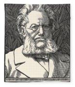 Henrik Ibsen, Norwegian Playwright Fleece Blanket