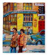Henry Birks On St Catherine Street Fleece Blanket