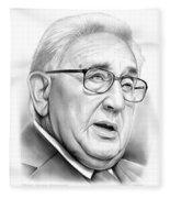 Henry Kissinger Fleece Blanket