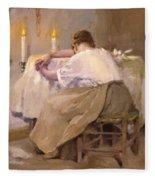 Her First Born 1888 Fleece Blanket