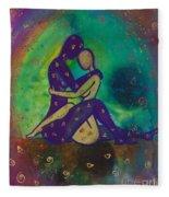 Her Loves Embrace Divine Love Series No. 1006 Fleece Blanket