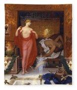 Hera In The House Of Hephaistos Fleece Blanket