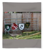 Heraldry Shields At Renfaire Fleece Blanket