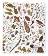 Herbarium Specimen Fleece Blanket