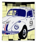 Herbie The Love Bug Fleece Blanket