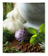 Herbs Fleece Blanket