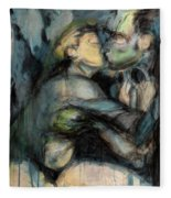 Hercule And Omphale Fleece Blanket