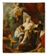 Hercules And Omphale Fleece Blanket