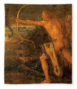 Hercules Kills The Symphalic Bird 1520 Fleece Blanket