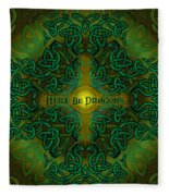 Here Be Dragons Fleece Blanket
