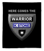 Here Comes The Warrior Fleece Blanket