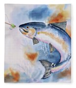 Here Fishy, Fishy Fleece Blanket