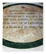 Here Rested The Remains Of President Kennedy Fleece Blanket