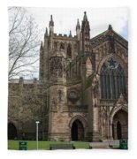 Hereford Cathedral  England Fleece Blanket