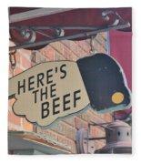 Heres The Beef Fleece Blanket