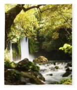 Hermon Stream Nature Reserve Banias Fleece Blanket