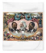 Heroes Of The Colored Race  Fleece Blanket