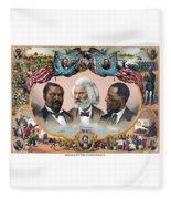 Heroes Of African American History - 1881 Fleece Blanket