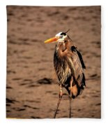 Egret Bad Feather Day Fleece Blanket