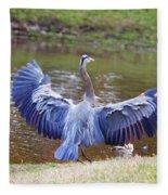 Heron Bank Landing Fleece Blanket