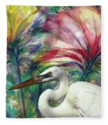 Heron Flair Fleece Blanket