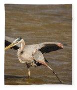 Heron - Hokey Pokey Fleece Blanket