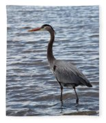 Heron On  Lake Guntersville Fleece Blanket
