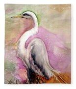 Heron Serenity Fleece Blanket