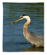 Herons Catch Fleece Blanket