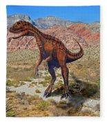 Herrarsaurus In Desert Fleece Blanket